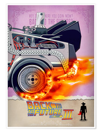 Póster  Back to the Future - Minimal Movie - Part 3 of 3 Alternative - HDMI2K