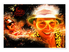 Póster  Fear and Loathing in Las Vegas - Movie Film Alternative - HDMI2K
