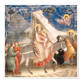 Póster  The Flight to Egypt - Giotto di Bondone
