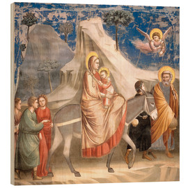 Cuadro de madera  The Flight to Egypt - Giotto di Bondone