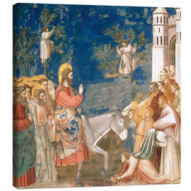 Lienzo  The Entry into Jerusalem - Giotto di Bondone