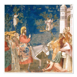 Póster  The Entry into Jerusalem - Giotto di Bondone
