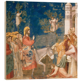 Cuadro de madera  The Entry into Jerusalem - Giotto di Bondone