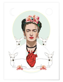 Póster  Frida Kahlo (Light) - Anna McKay