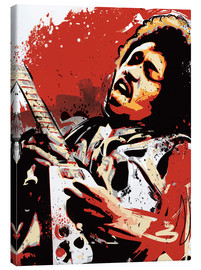Lienzo  alternative jimi hendrix street art style illustration - 2ToastDesign