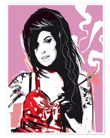 Póster  Amy Winehouse - 2ToastDesign
