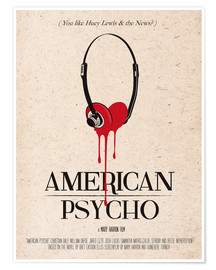 Póster  alternative american psycho retro movie poster - 2ToastDesign
