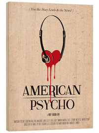 Madera  alternative american psycho retro movie poster - 2ToastDesign
