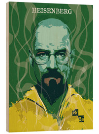 Cuadro de madera  Heisenberg, Breaking bad - 2ToastDesign