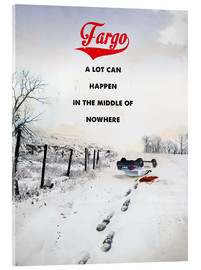 Metacrilato  alternative fargo retro movie poster - 2ToastDesign
