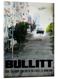 Metacrilato  alternative bullitt retro movie poster - 2ToastDesign
