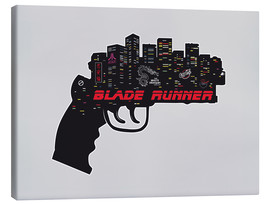 Lienzo  alternative blade runner rick deckard gun movie poster - 2ToastDesign