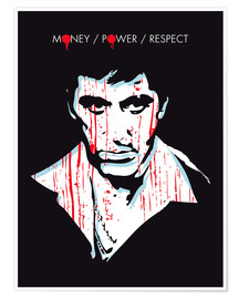 Póster alternative scarface tony montana movie poster