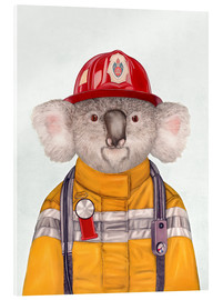 Metacrilato  Koala Firefighter - Animal Crew
