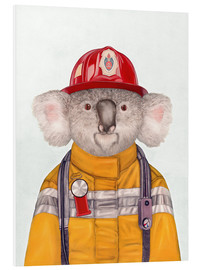 Cuadro de PVC  Koala Firefighter - Animal Crew