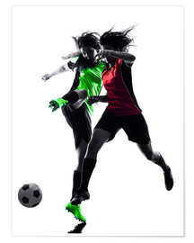 Póster  two soccer players