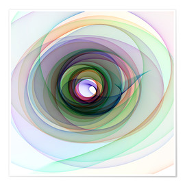 Póster  Colourful spiral