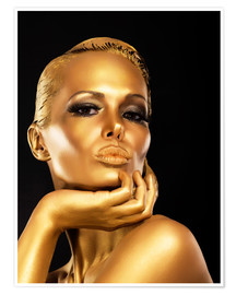 Póster Woman with Gold Make-up