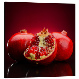 Aluminio-Dibond  red pomegranate fruits