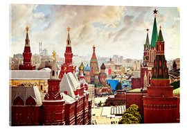 Metacrilato  Aerial view of the Kremlin in Moscow, Red Square