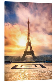 Jan Christopher Becke - Eiffel Tower in Paris at sunset