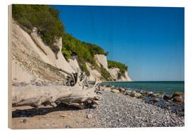 Cuadro de madera  Chalk cliffs on the island Ruegen (Germany) - Rico Ködder