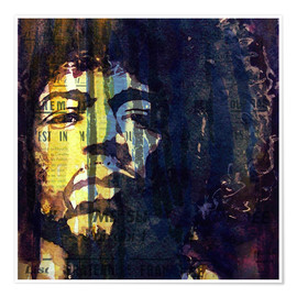 Póster  Hendrix : Winds Cry Mary Retro - Paul Paul Lovering Arts