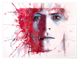 Póster  La estrella más guapa, David Bowie - Paul Lovering Arts