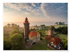 Póster  Dahme Lighthouse Baltic Sea Aerial View - Dennis Stracke