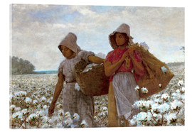 Cuadro de metacrilato  The Cotton Pickers - Winslow Homer