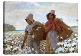 Lienzo  The Cotton Pickers - Winslow Homer