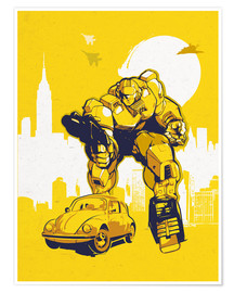 Póster  alternative bumblebee retro transformers art - 2ToastDesign