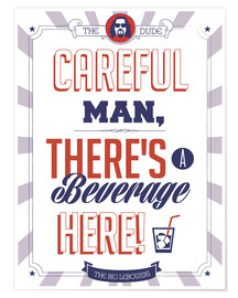 Póster  alternative big lebowski typography quote - 2ToastDesign