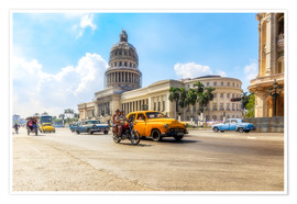 Póster  Havana Capitol with Oldtimer - Reemt Peters-Hein
