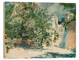 Cuadro de madera  Orange Trees and Gate - Winslow Homer