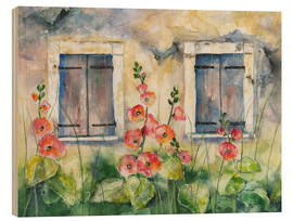 Madera  Hollyhocks - Jitka Krause