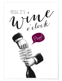 Póster  Wine o'clock - Amy and Kurt Berlin