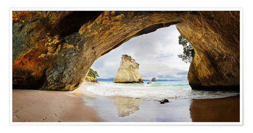 Póster Cathedral Cove - New Zealand