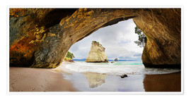 Póster  Cathedral Cove - New Zealand - Michael Rucker