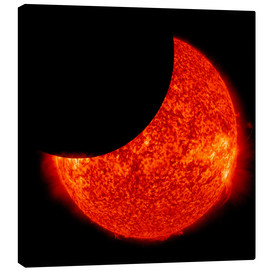 Lienzo  A partial solar eclipse from space.