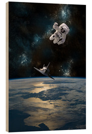 Madera  An astronaut drifting in space is rescued by a space shuttle orbiting Earth. - Marc Ward