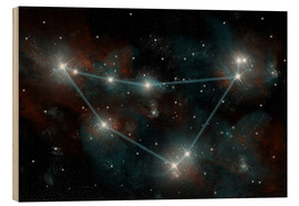 Cuadro de madera  Artist's depiction of the constellation Capricorn the Sea Goat. - Marc Ward