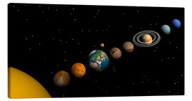 Lienzo  Planets of the solar system - Elena Duvernay
