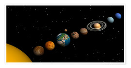 Póster Planets of the solar system