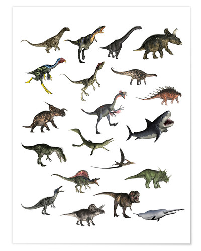 Póster Overview dinosaurs