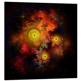Cuadro de aluminio  A collection of colorful nebulae, gases, dust, stars and interstellar matter. - Corey Ford