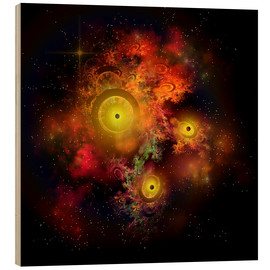 Cuadro de madera  A collection of colorful nebulae, gases, dust, stars and interstellar matter. - Corey Ford