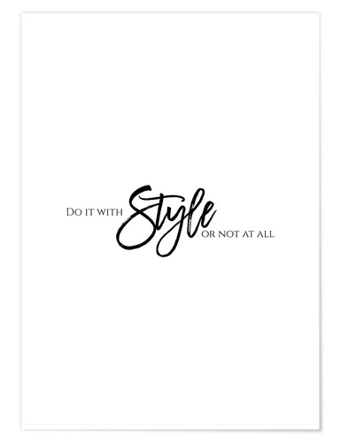 Póster Do it with style