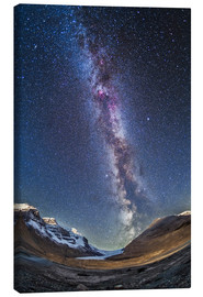 Lienzo  Milky Way over the Columbia Icefields in Jasper National Park, Canada. - Alan Dyer