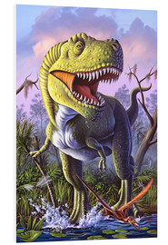 Cuadro de PVC  A Tyrannosaurus Rex crashes through a swamp. - Jerry LoFaro